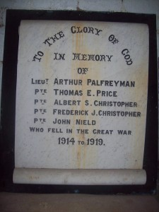 Memorial from Bryn Chapel