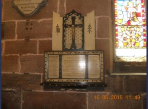 St Marys WW1 plaque