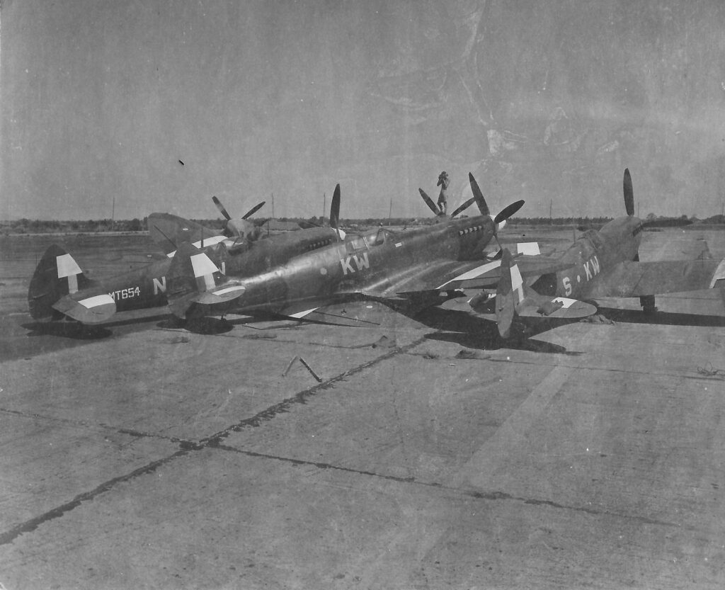 Photograph of RAF Spitfires in India 1944-5