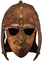 This image has an empty alt attribute; its file name is Sutton-Hoo-Helmet-2.png